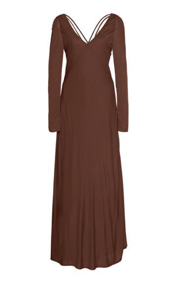Cult Gaia Becca Satin-jersey Empire Dress Size: Xs