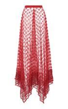 Moda Operandi Altuzarra Virginia Sheer Fil Coupe Silk Maxi Skirt Size: 34