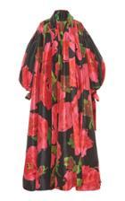 Moda Operandi Richard Quinn Floral-print Oversized Satin Coat Size: 6