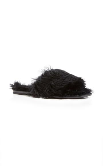 Tomas Maier Mongolian Fur Slide