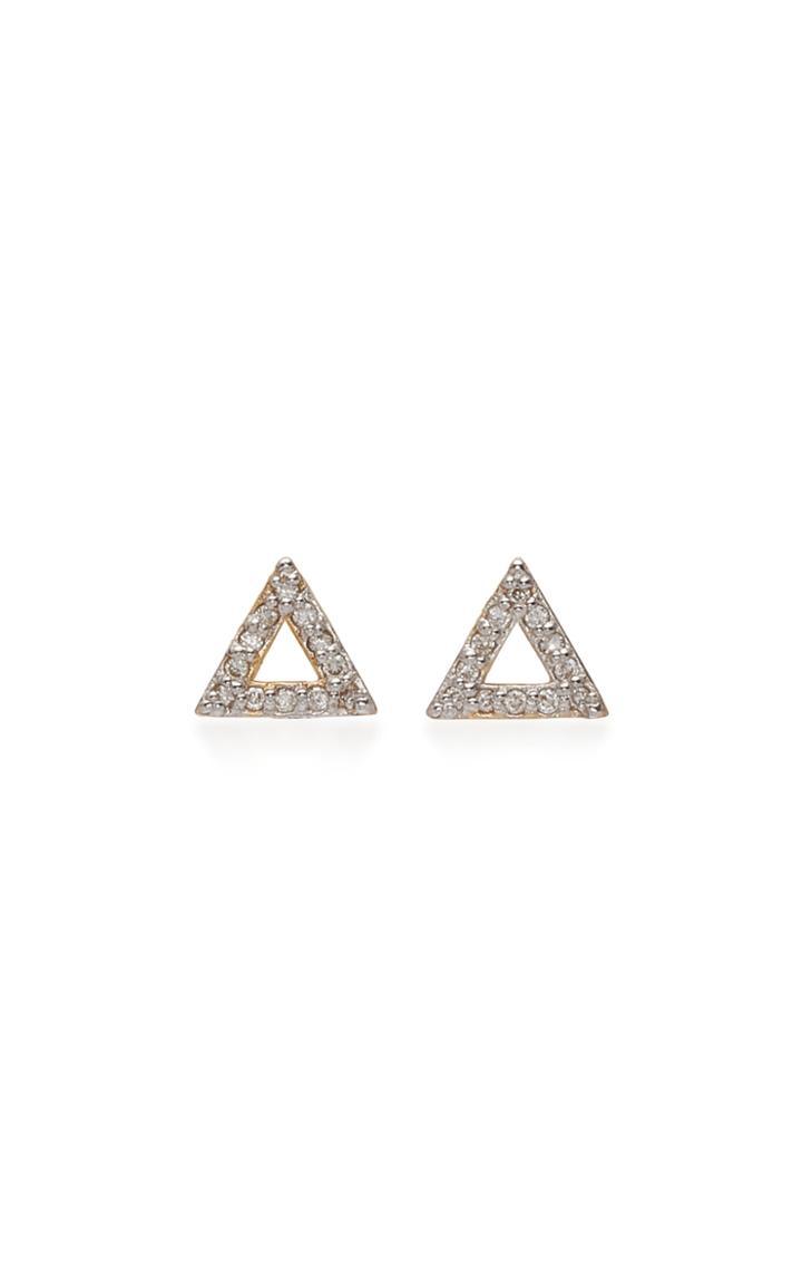 Mateo Mini Diamond Triangle Stud Earrings