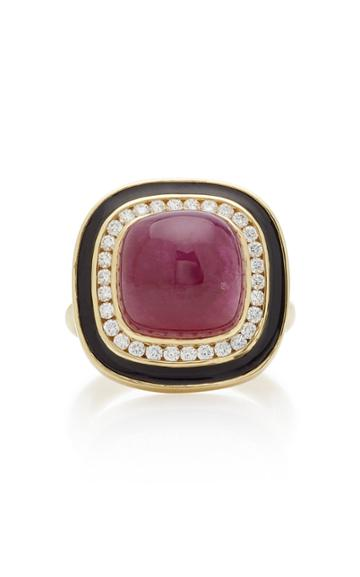 Andrew Glassford Museum Series Sugarload Ruby 18k Yellow Gold Ring