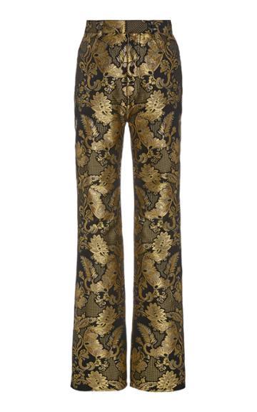 Moda Operandi Rodarte Metallic Jacquard Straight-leg Trousers