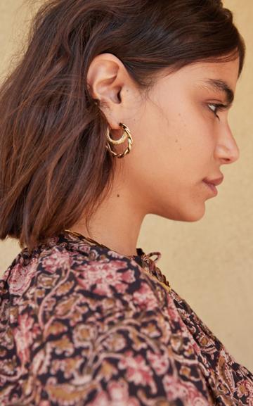 Moda Operandi Loeffler Randall Holly Twisted Double Hoop Earrings