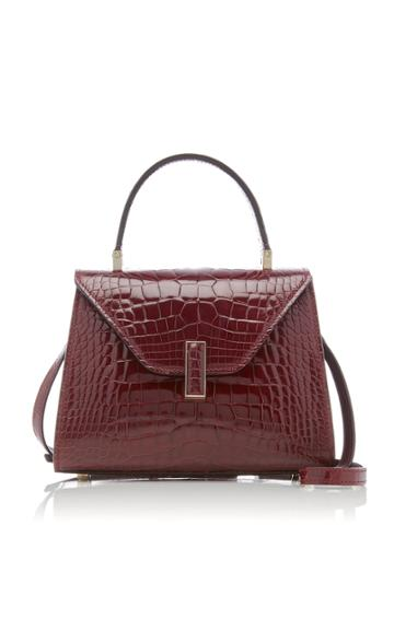 Valextra Iside Small Alligator Top Handle Bag