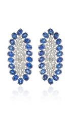 Sutra Scintilliae Sapphire And Diamond Earrings