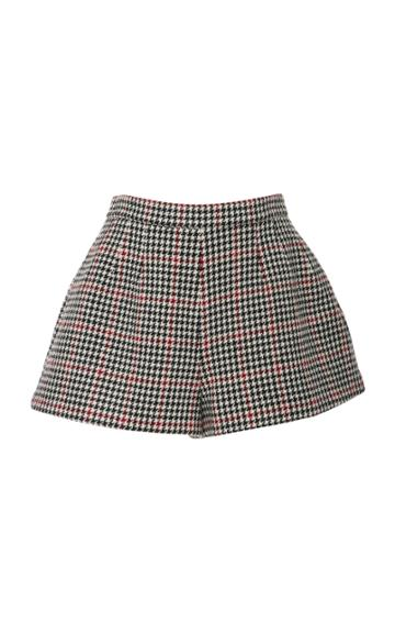 Red Valentino Houndstooth Flared Shorts