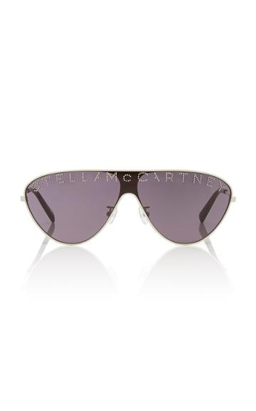 Stella Mccartney Sunglasses Logo Stud-embellished Aviator-style Sunglasses