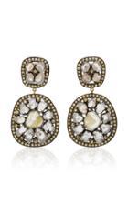 Amrapali 14k Gold And Diamond Earrings