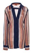 Moda Operandi Missoni Striped Crepe Blouse