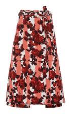 Marni A Line Floral Midi Skirt
