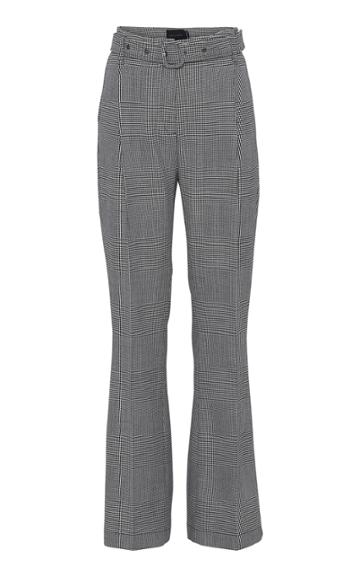 Moda Operandi Birgitte Herskind Francis Checked Wool-blend Pants