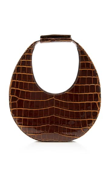 Staud Moon Croc-effect Leather Top Handle Bag