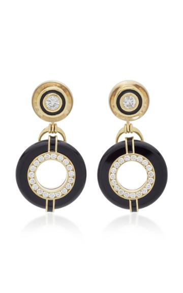 Andrew Glassford Donut Series Iii Diamond And Black Onyx Earrings