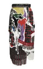 Balmain Patchwork Newspaper Skirt