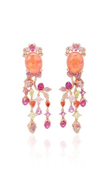 Anabela Chan Ruby Passiflora Earrings