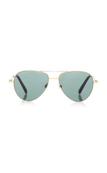 Valentino Rockstud Aviator-style Metal Sunglasses