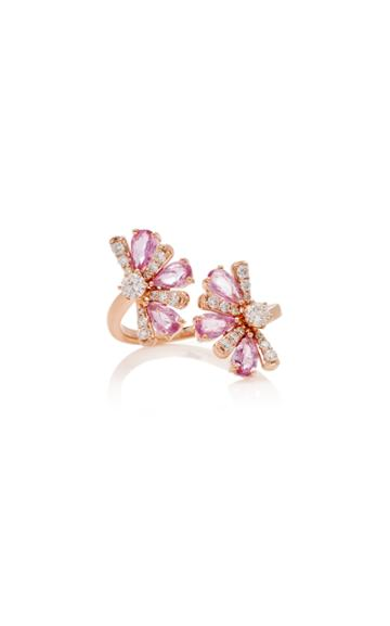 Hueb M'o Exclusive 18k Rose Gold Sapphire And Diamond Rings