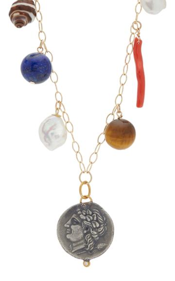 Haute Victoire Medallion Diamond And Pearl Charm Necklace