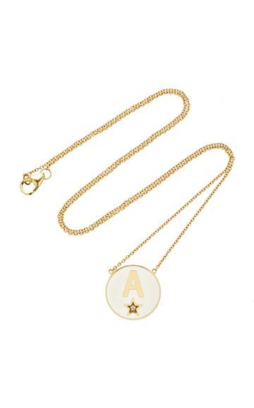 Moda Operandi Andrea Fohrman Custom Enamel Initial Necklace