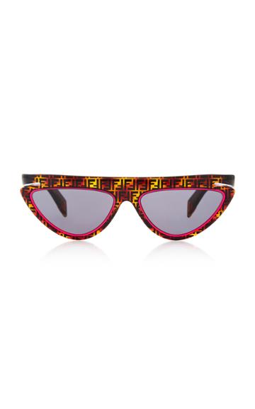 Fendi Logo Tortoiseshell Acetate Cat-eye Sunglasses