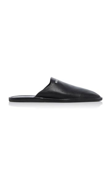 Balenciaga Cosy Leather Logo Mules