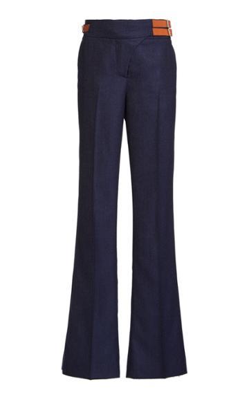 Moda Operandi Gabriela Hearst Mcquinn Buckle-detailed Cashmere Denim Flared Trousers