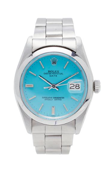 Vintage Watches Rolex Date Turquoise Dial