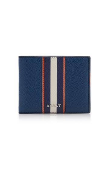 Bally Striped Leather Wallet