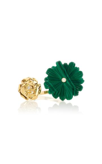 Brent Neale M'o Exclusive Wildflower & Rose Double Sided Ring