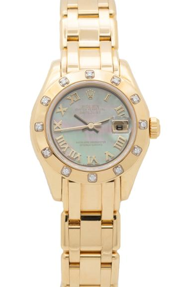 Moda Operandi Stephanie Windsor One Of A Kind Rolex Oyster Perpetual Datejust Pearlm