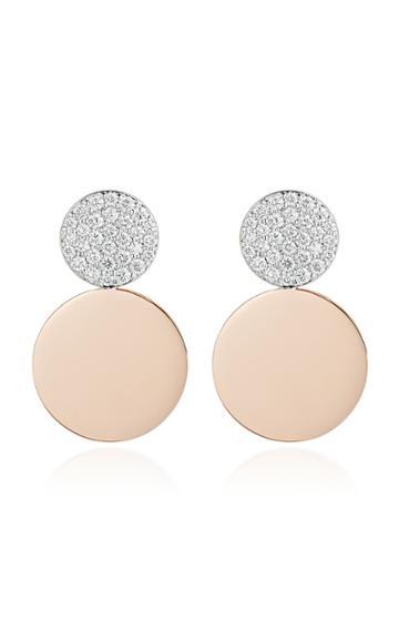 Walters Faith Lytton 2 18k Rose-gold And Diamond Disc Drop Earrings