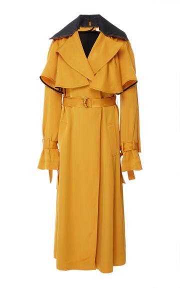 Adeam Ruffle Robe Trench Coat