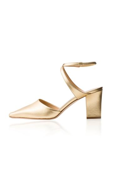 Aeyde Lila Gold Leather Pumps