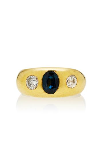Toni + Chlo Goutal One-of-a-kind Gypsy Sapphire And Diamond Ring