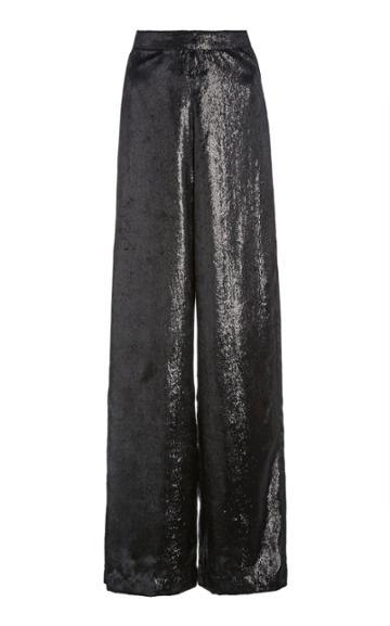 Moda Operandi Rodarte Metallic Velvet Wide-leg Pants