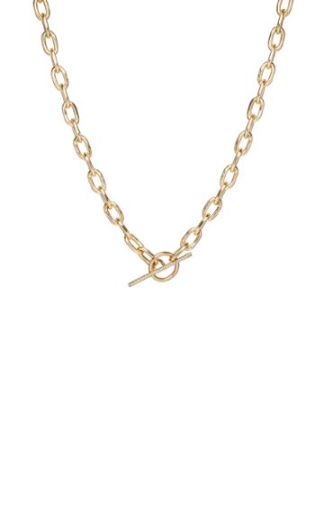Zoe Chicco 14k Yellow Gold And Diamond Toggle Necklace