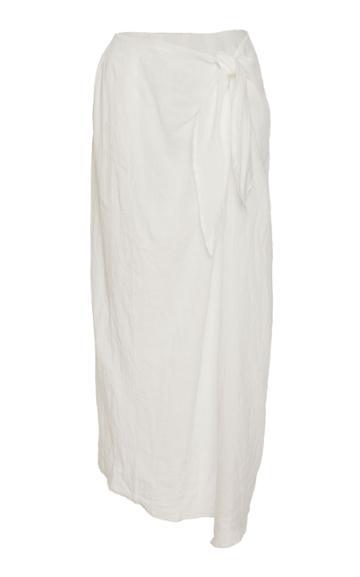 Anemone Ramie Linen Wrap Skirt
