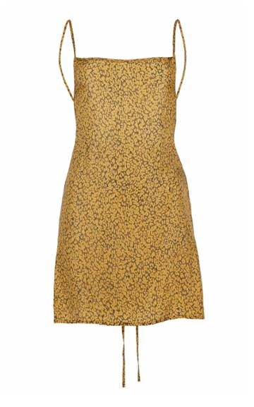 Anemone Back-tied Mini Dress