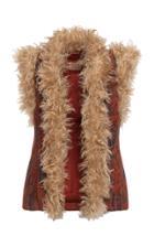 Moda Operandi Lena Hoschek Handicraft Faux Fur-trimmed Jacquard Vest