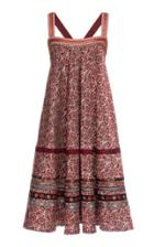 Moda Operandi Lena Hoschek Katherina Ribbon-detailed Printed Midi Dress