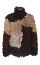 Marni Color Blocked Shearling Jacket