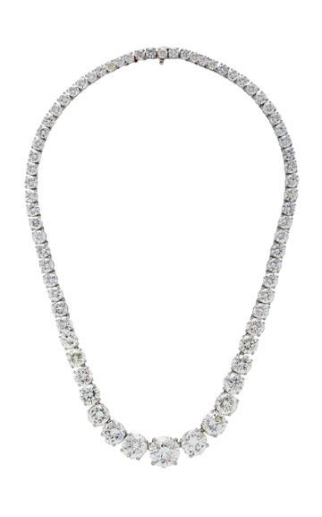 Oscar Heyman Round Diamond Necklace