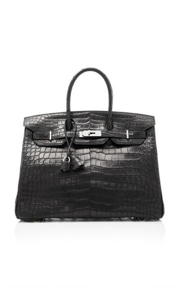 Heritage Auctions Special Collection Hermes 35cm Matte Black Porosus Crocodile Birkin