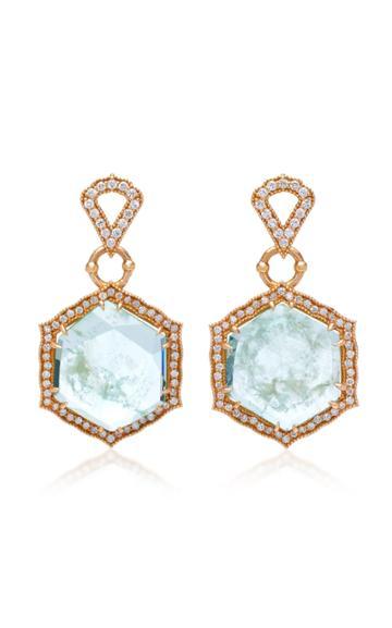 Sara Weinstock Taj 18k Gold Emerald And Diamond Earrings