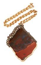Kimberly Mcdonald Large Jasper And Brown Diamond Necklace