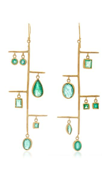 Margery Hirschey One Of A Kind Emerald Shoulder Dusters