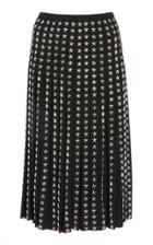 Moda Operandi Michael Kors Collection Stud-embellished Wool Skirt Size: 0