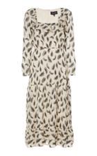 Saloni Misha Ruffle-trimmed Georgette Midi Dress