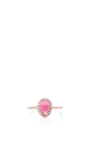 Marlo Laz 14k Rose Gold Diamond And Tourmaline Ring